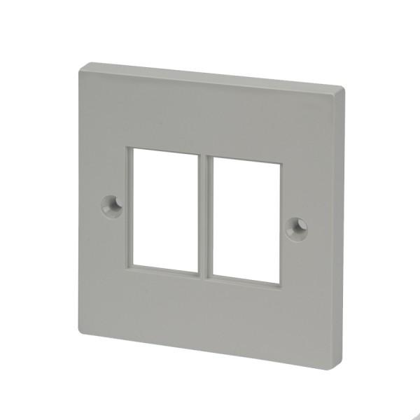 Faceplate Flat Single 2 x LJ6C White 86 x 86mm white