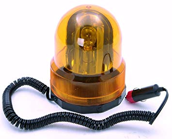 Amber Warning Light Beacon Rotating 12v Lead Length 4.4Mtr