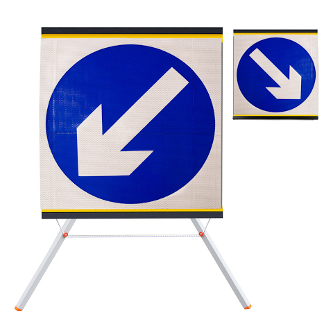 Sign Roll-up 750mm Keep Left/Right