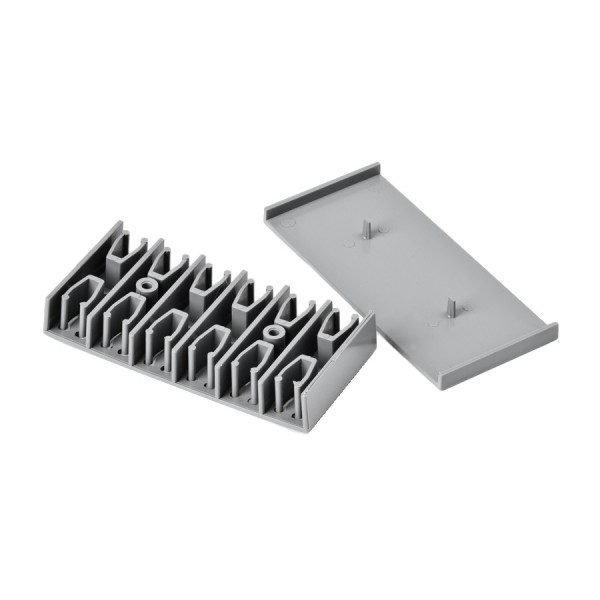 24 Way Splice Holder Self Adhesive Grey