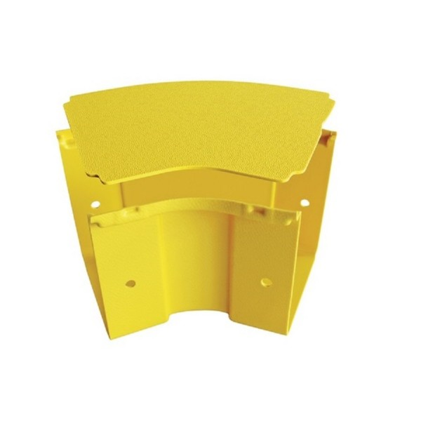 Fibre Ducting Horizontal Bend Plastic LSZH 45 Degree c/w Lid Yellow (H) 100mm x (W) 300mm