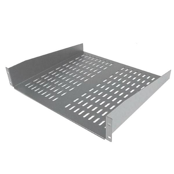 Cantilever Shelf Semi Vented Up to 35kg Grey (H) 2U x (W) 19″ x (D) 400mm