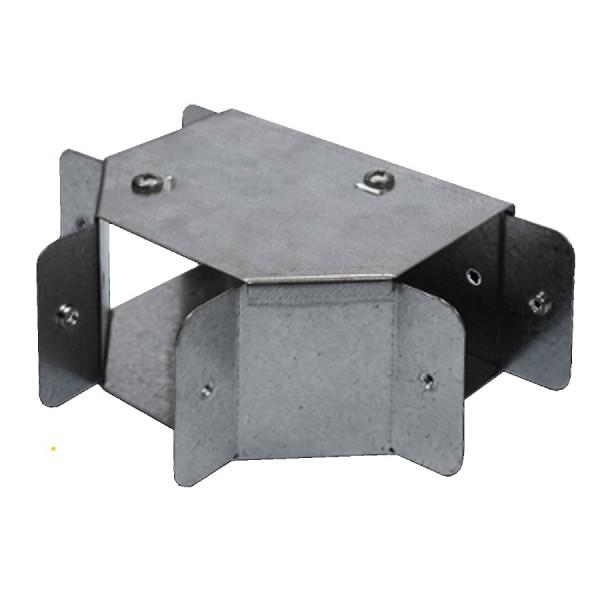 Trunking Gusset Tee Top Lid Pre-Galvanised 90 Degree AGTT44 (H) 100mm x (W) 100mm