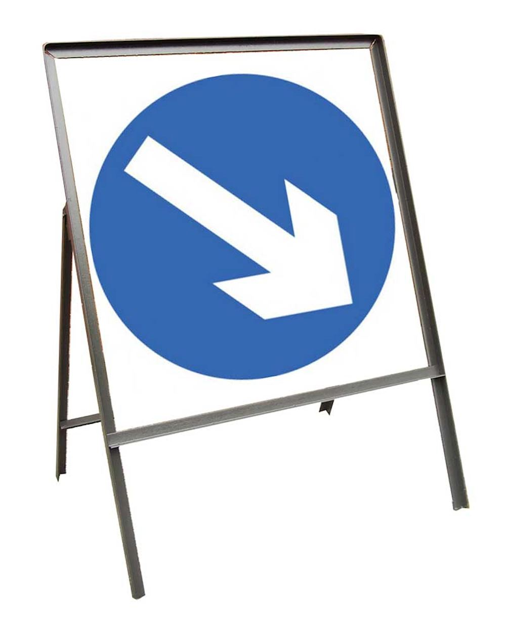 Sign Metal 750mm Keep Right