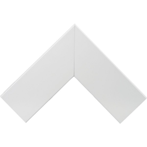 Trunking Maxi Flat Angle Fabricated PVC TRK – Heavy Duty White (H) 75mm x (D) 75mm
