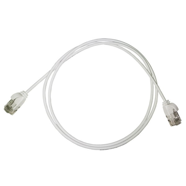 Cat6 U/UTP LSZH Patch Lead SLIM 32 AWG Moulded Boot 1m