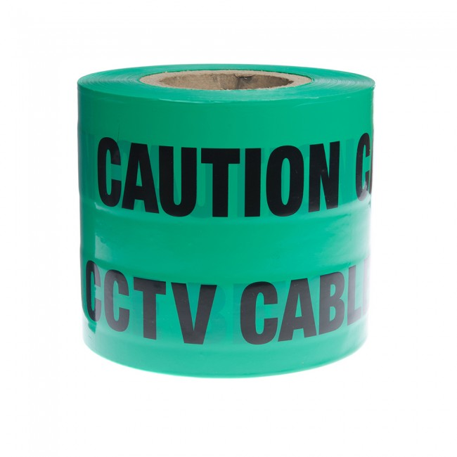 Tape Caution CCTV Cable Below
