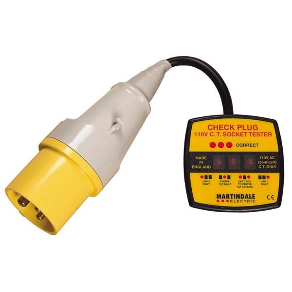 Check Plug Socket Tester 110V Industrial 16A Yellow
