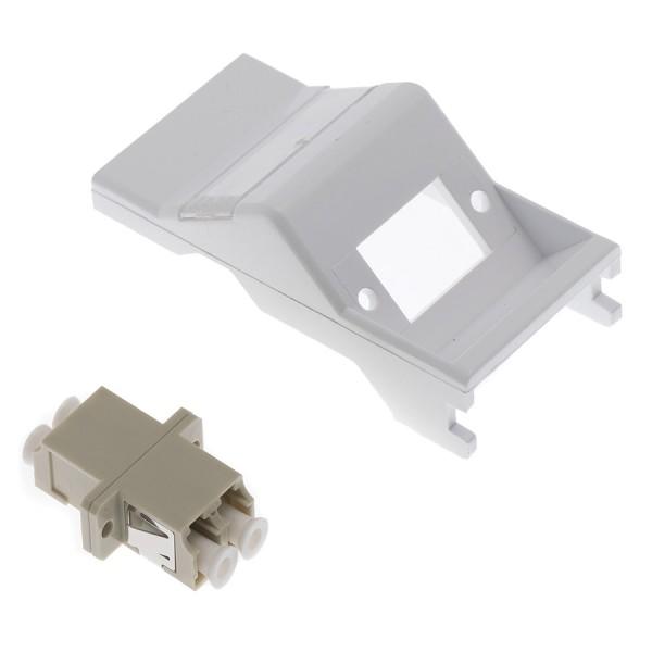 Fibre Adaptor Module Simplex MM LC Euro Angled