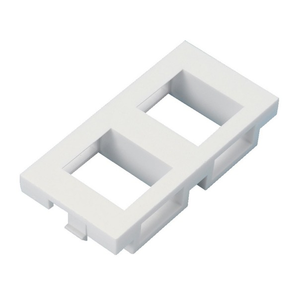 Keystone Adaptor Unshuttered Flat Euro x 2 White