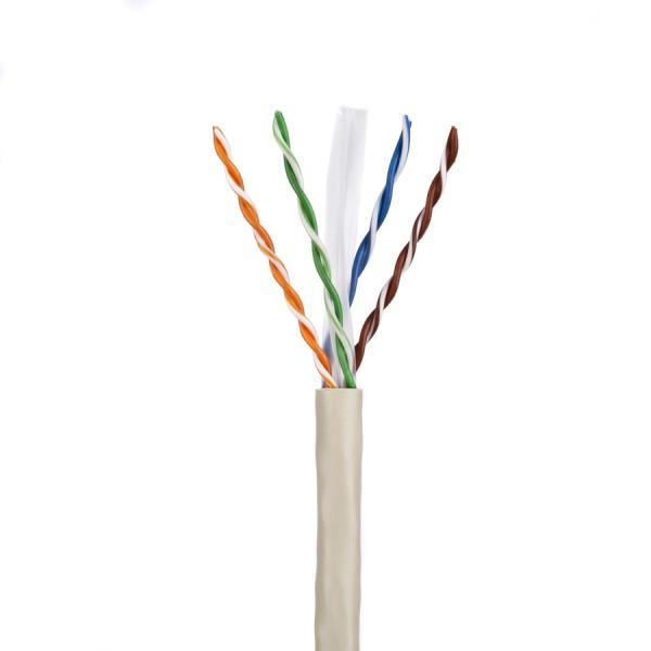 Cat6 Data Cable Solid U/UTP CM 4 Pair Grey 305m