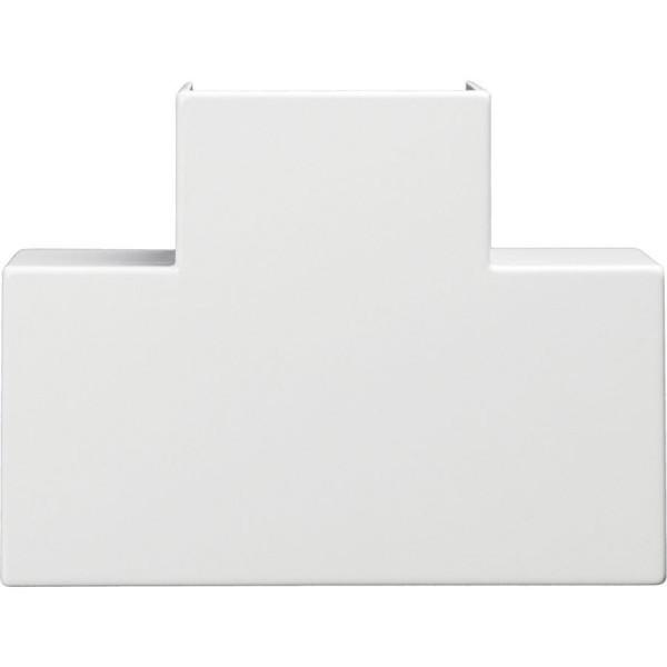 Trunking Midi Flat Tee PVC White (H) 50mm x (D) 50mm