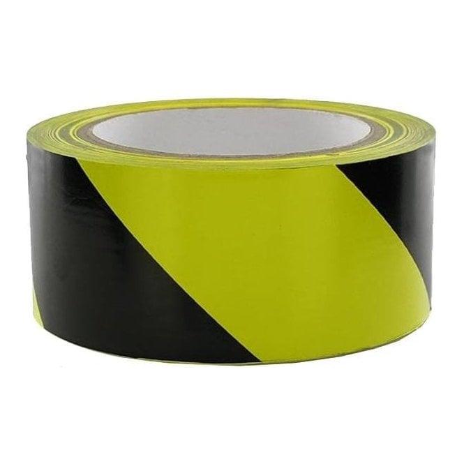 Tape Hazard Black/Yellow (W) 50mm x (L) 33Mtr