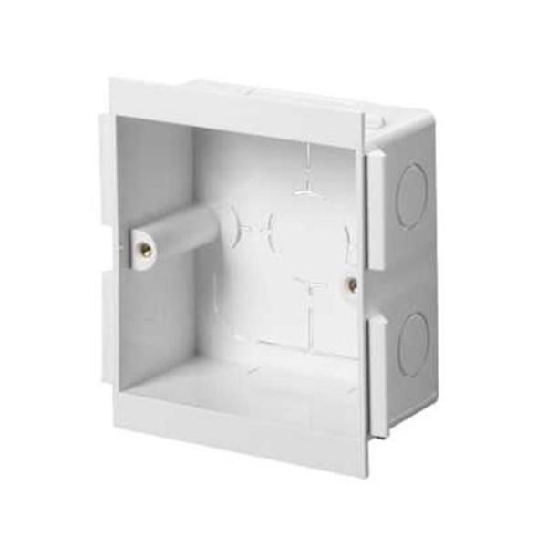 Dado Trunking Ultimate Socket Mounting Box 1 Gang White (D) 25mm