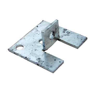 Channel Bracket Base Support Hot Dip Galvanised Steel P2072-S2 (W) 45mm x (D) 93mm x (L) 93mm