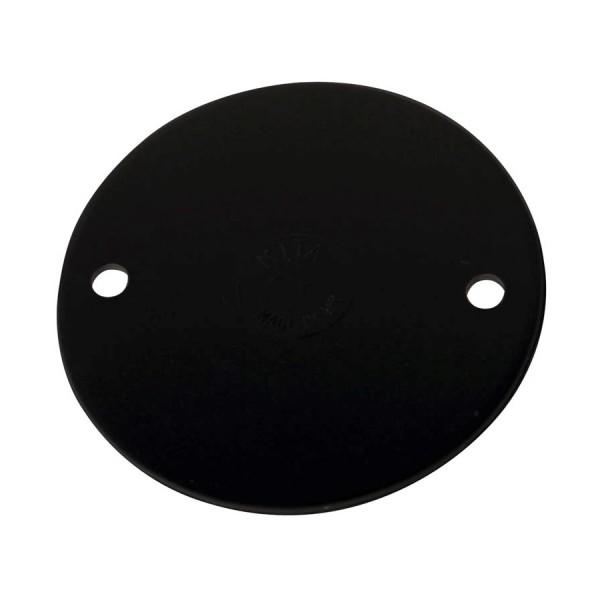 Lid For Circular Junction Box Lid Black (Dia) 65mm