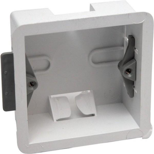 Cavity Wall Box Single Gang White (D) 34mm
