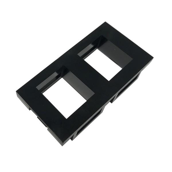 Keystone Adaptor Unshuttered Flat Euro x 2 Black