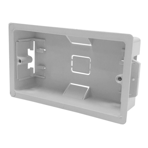 Cavity Wall Box Double Gang White (D) 34mm