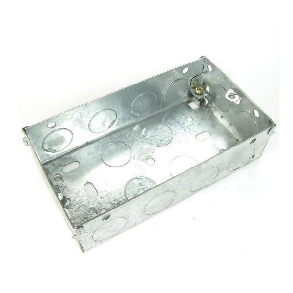Pattress Box Double Gang Steel Flush Mount (D) 35mm NX-BB-012