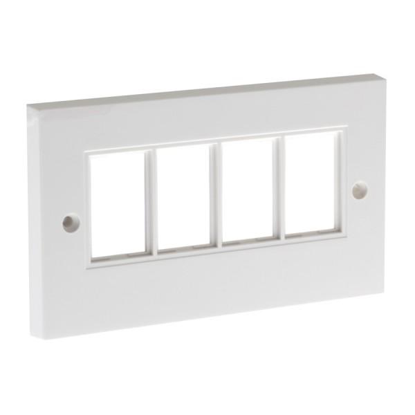 Faceplate Flat Double 4 x LJ6C White 86 x 146mm white