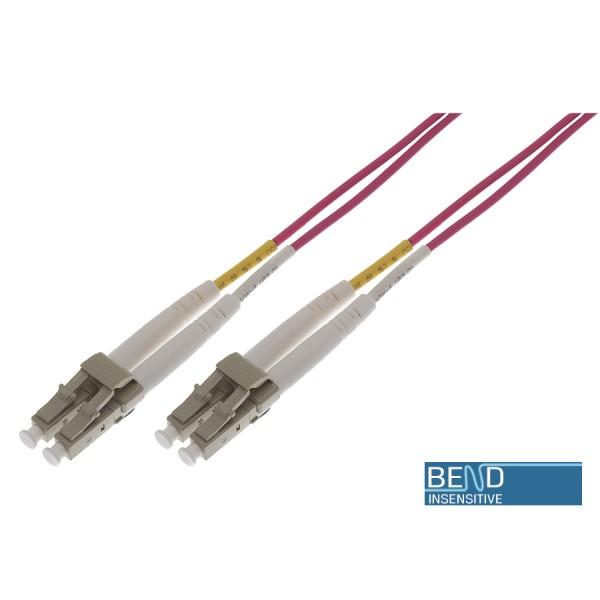 Fibre Patch Lead Duplex MM LC-LC OM4 LSZH 0.5 Metre