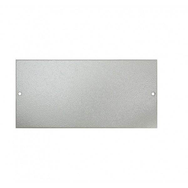Floor Box Blanking Plate (For 3 Way Shallow & Deep) Grey (H) 89mm x (L) 185mm