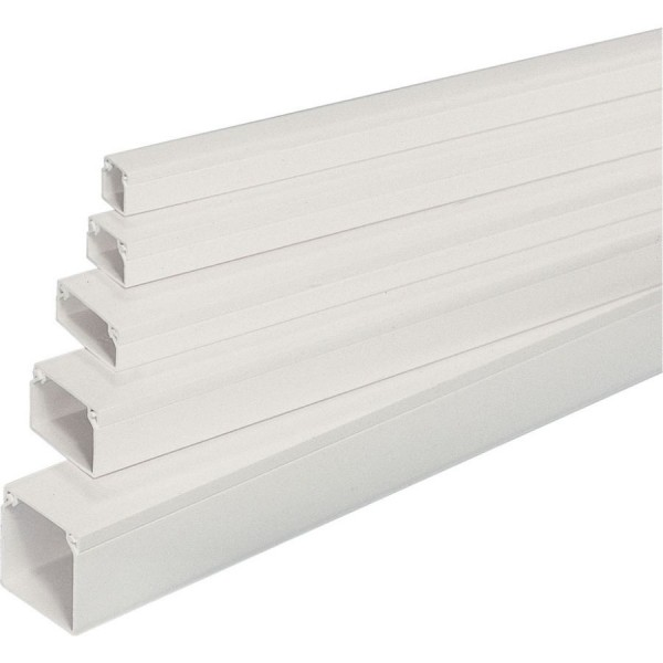 Trunking Mini Self Adhesive PVC YT1 White (H) 16mm x (D) 16mm x (L) 3m Pack P30