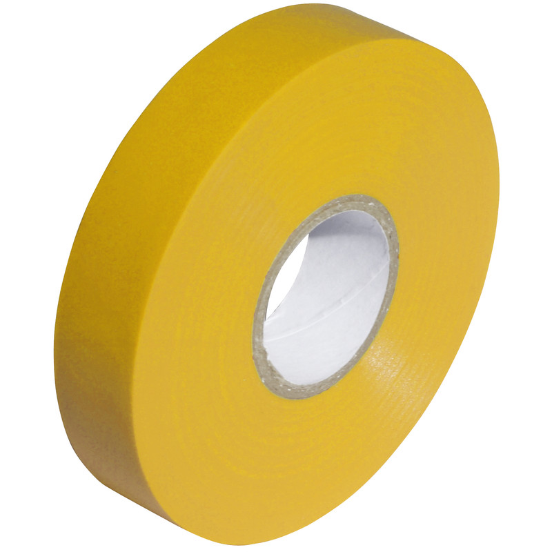 Tape PVC Yellow 19mm x 20m