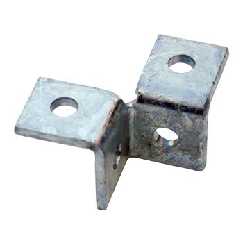 Channel Bracket Wing 90 Degree Hot Dip Galvanised Steel 2+2 Hole P2223 (W) 50mm x (D) 50mm