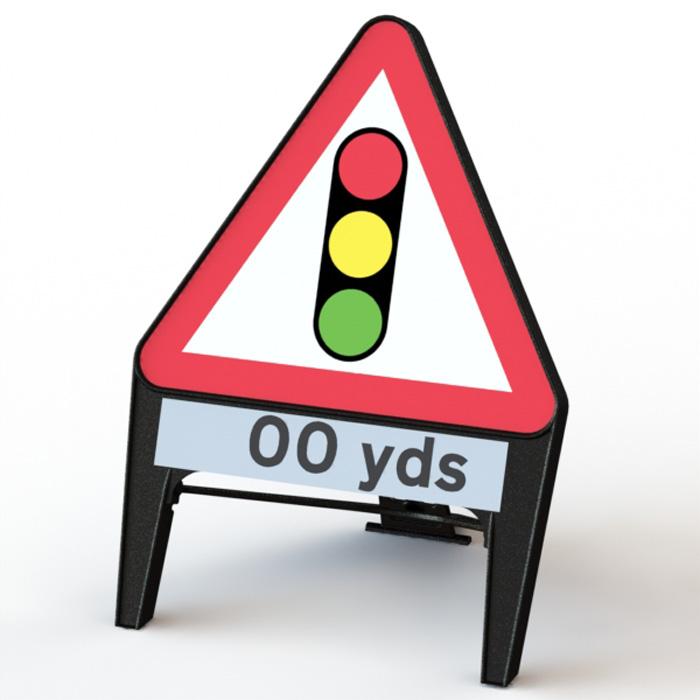 Q' Sign Traffic Lights