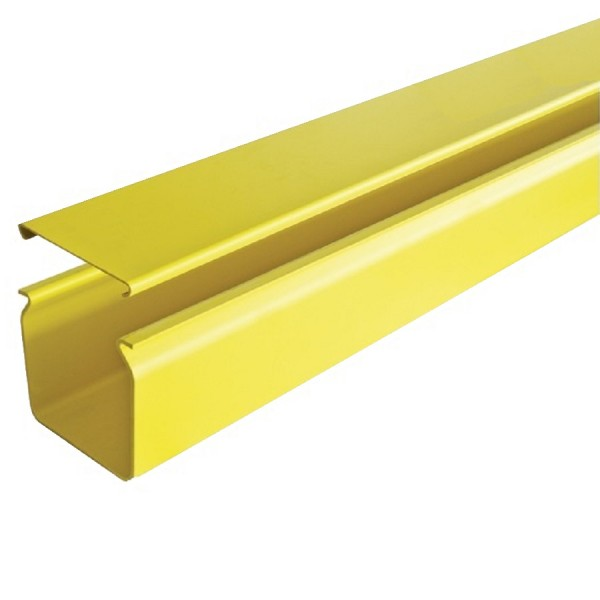 Fibre Ducting Solid Plastic LSZH c/w Lid Yellow (H) 50mm x (W) 50mm x (L) 1.8m