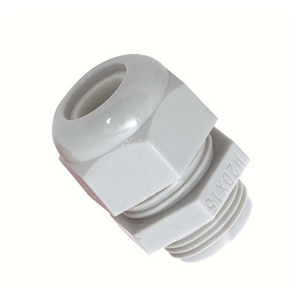 Sealed Cable Gland & Locknut PG13.5 Nylon IP68 Grey Clearance Hole 20.4mm Cable Dia 6mm-12mm Gland Length 32mm-41mm