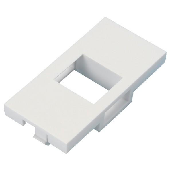Keystone Adaptor Unshuttered Flat Euro White