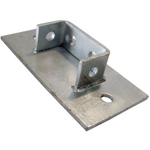 Channel Bracket Base Support Hot Dip Galvanised Steel P2073 (W) 93mm x (D) 40mm x (L) 193mm