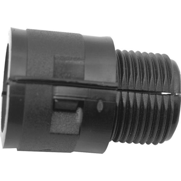 Locknut & Gland Hinged Fitting Polypropylene Black (Dia) 25mm