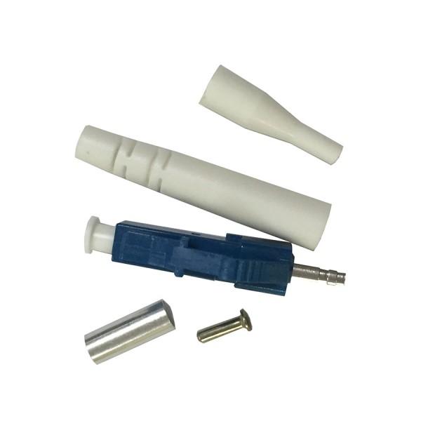 Epoxy & Polish Fibre Optic Connector Simplex SM LC Ceramic Blue 3mm & 900 Microns