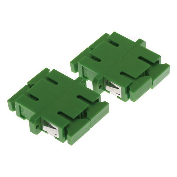 Fibre Optic Adaptor SC/APC Duplex SM Ceramic Green