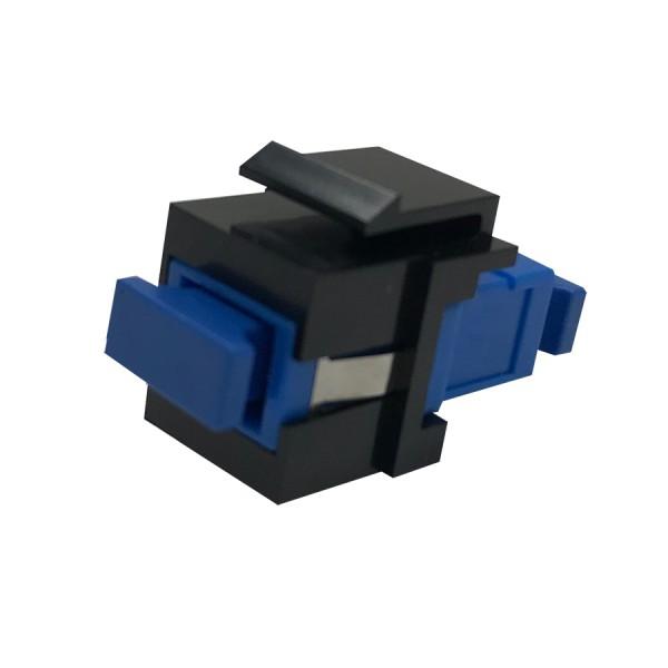 Fibre Keystone Jack Black Body SC Simplex Singlemode Blue Adaptor