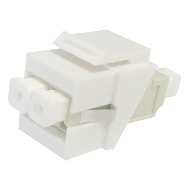 Fibre Keystone Jack White Body LC Duplex Multimode Beige Adaptor
