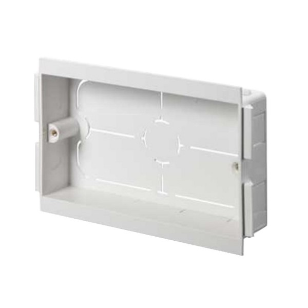 Dado Trunking Ultimate Socket Mounting Box 2 Gang White (D) 50mm