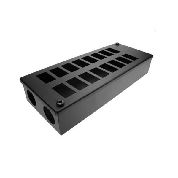 LJ6C Pod Box Horizontal 16 Port 2×8 Black (W) 125mm x (D) 55mm x (L) 310mm Entry Gland 2 x 32mm
