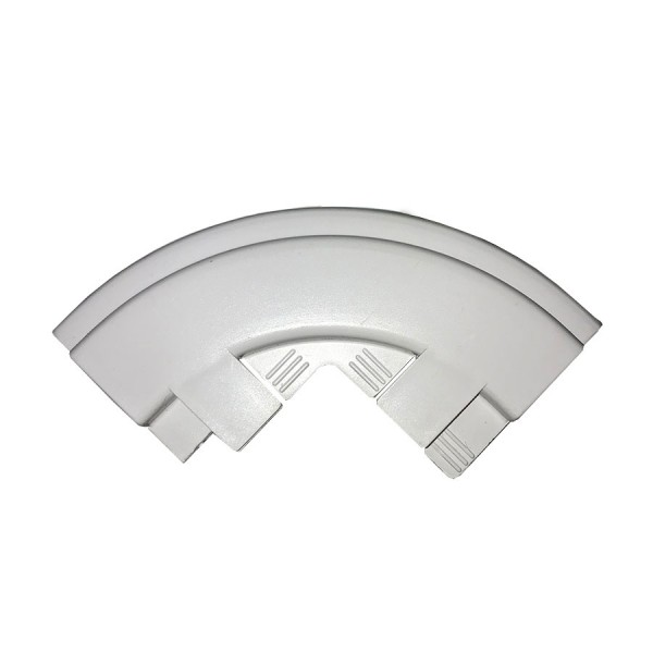 Dado Trunking Consort Data Cable Guide for External Angle White