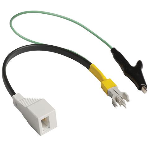 Test Cord 2 Pole SID Plug Banana Sockets Black