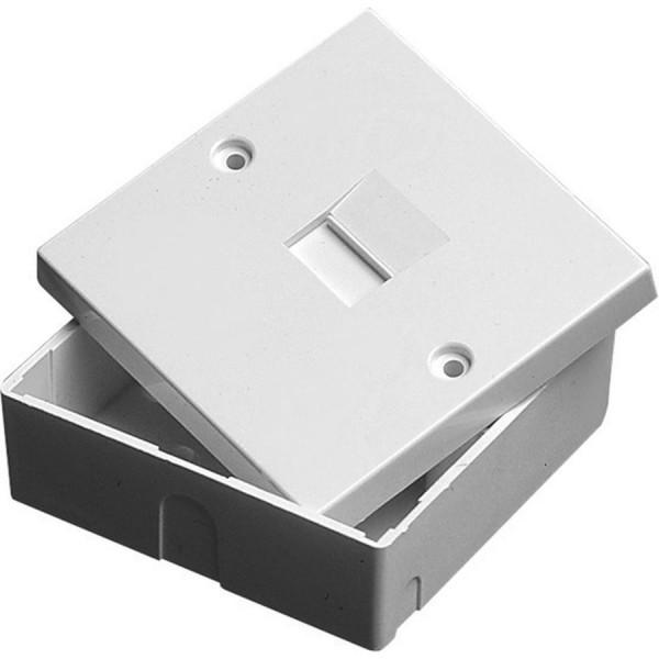 Line Jack 2/2A PABX IDC White (H)68mm x (W)68mm x (D)29mm