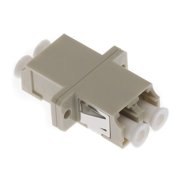 Fibre Optic Adaptor LC Duplex MM Ceramic Beige
