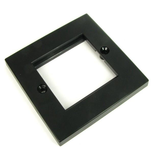 Faceplate Flat Single 2 x Euro 86 x 86mm Black
