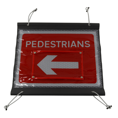 Sign Roll-up Pedestrian Gateguard (L/R)