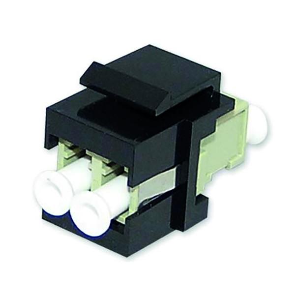Fibre Keystone Jack Black Body LC Duplex Multimode Beige Adaptor