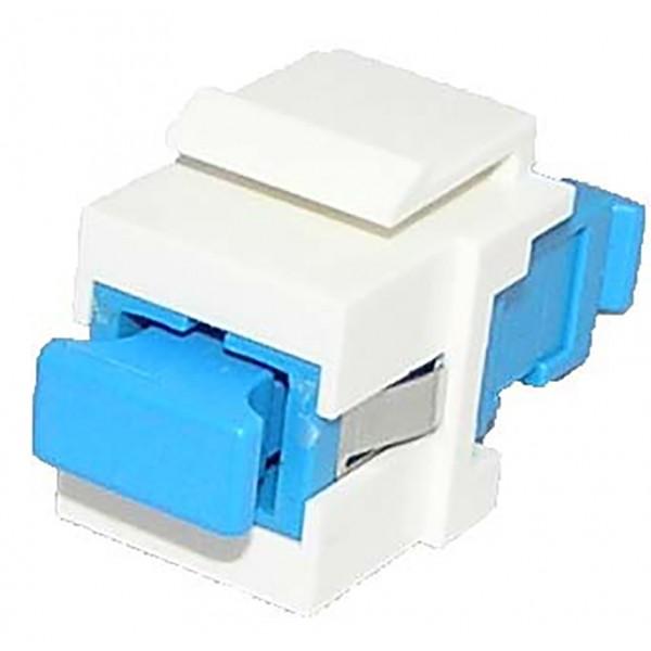 Fibre Keystone Jack White Body SC Simplex Singlemode Blue Adaptor